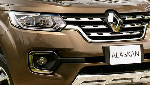 Essai Renault Alaskan dCi 190 BVA : détail calandre