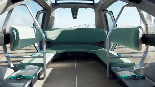 Le concept véhicule-robot EZ-GO de Renault : intérieur