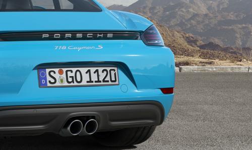 Essai Porsche 718 Cayman : détail arrière