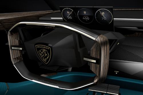 La technologie à l'intérieur de la Peugeot E-Legend